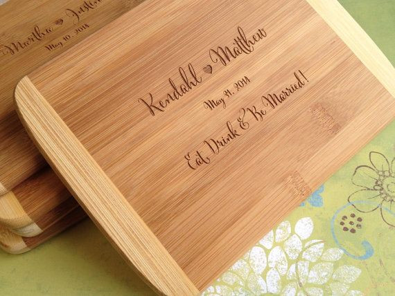 Best ideas about Wedding Gift Engraving Ideas . Save or Pin Engraved Wood Cutting Board Bridal Shower Gift Wedding Now.