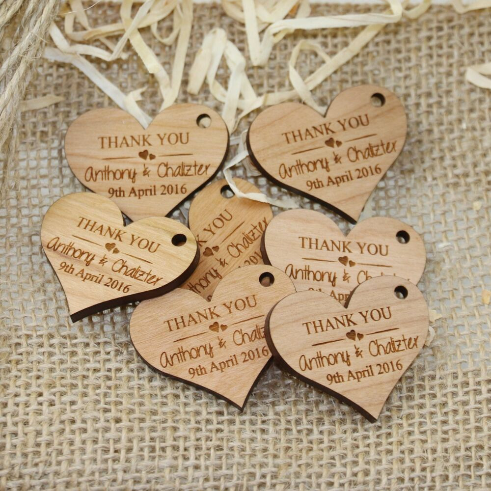 Best ideas about Wedding Gift Engraving Ideas . Save or Pin Personalised Engraved Wooden HEART Wedding Gift Tag Wth Now.