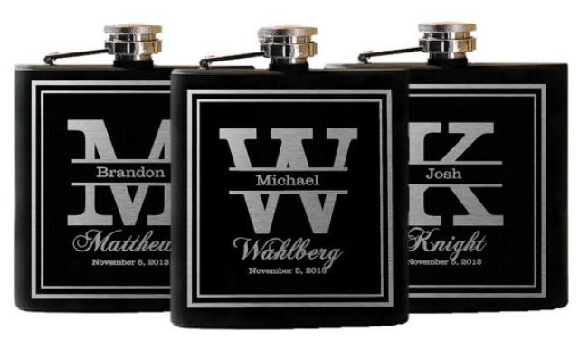 Best ideas about Wedding Gift Engraving Ideas . Save or Pin Wedding Party Favors Groomsmen Flask Gifts Custom Now.