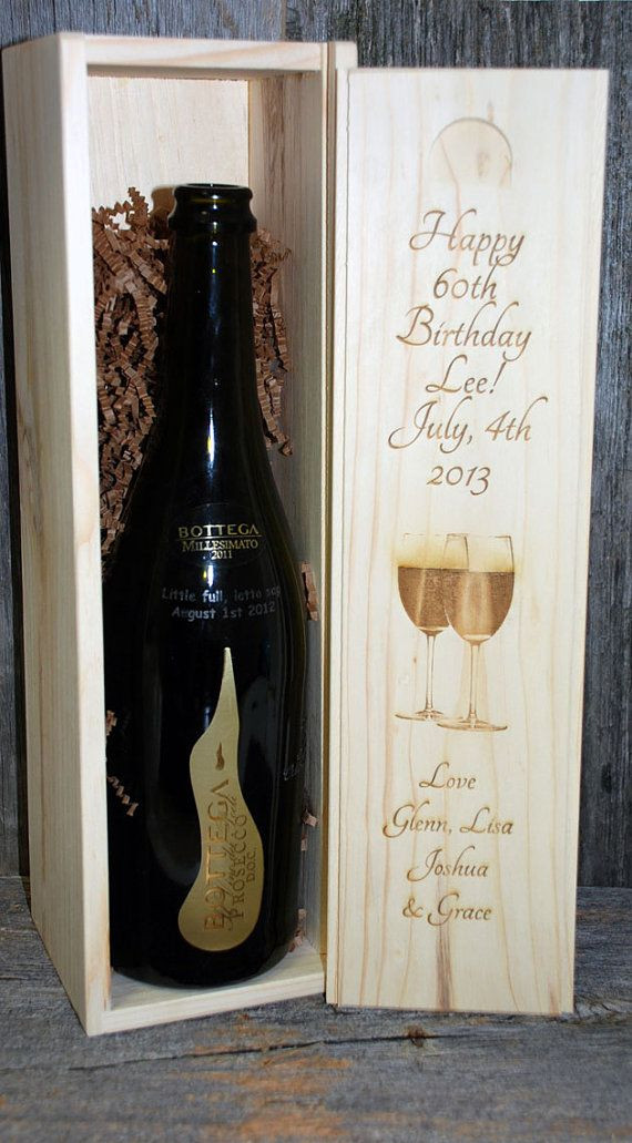 Best ideas about Wedding Gift Engraving Ideas . Save or Pin Birthday Gift Wedding Engraved Wine Box Groomsmen ts Now.