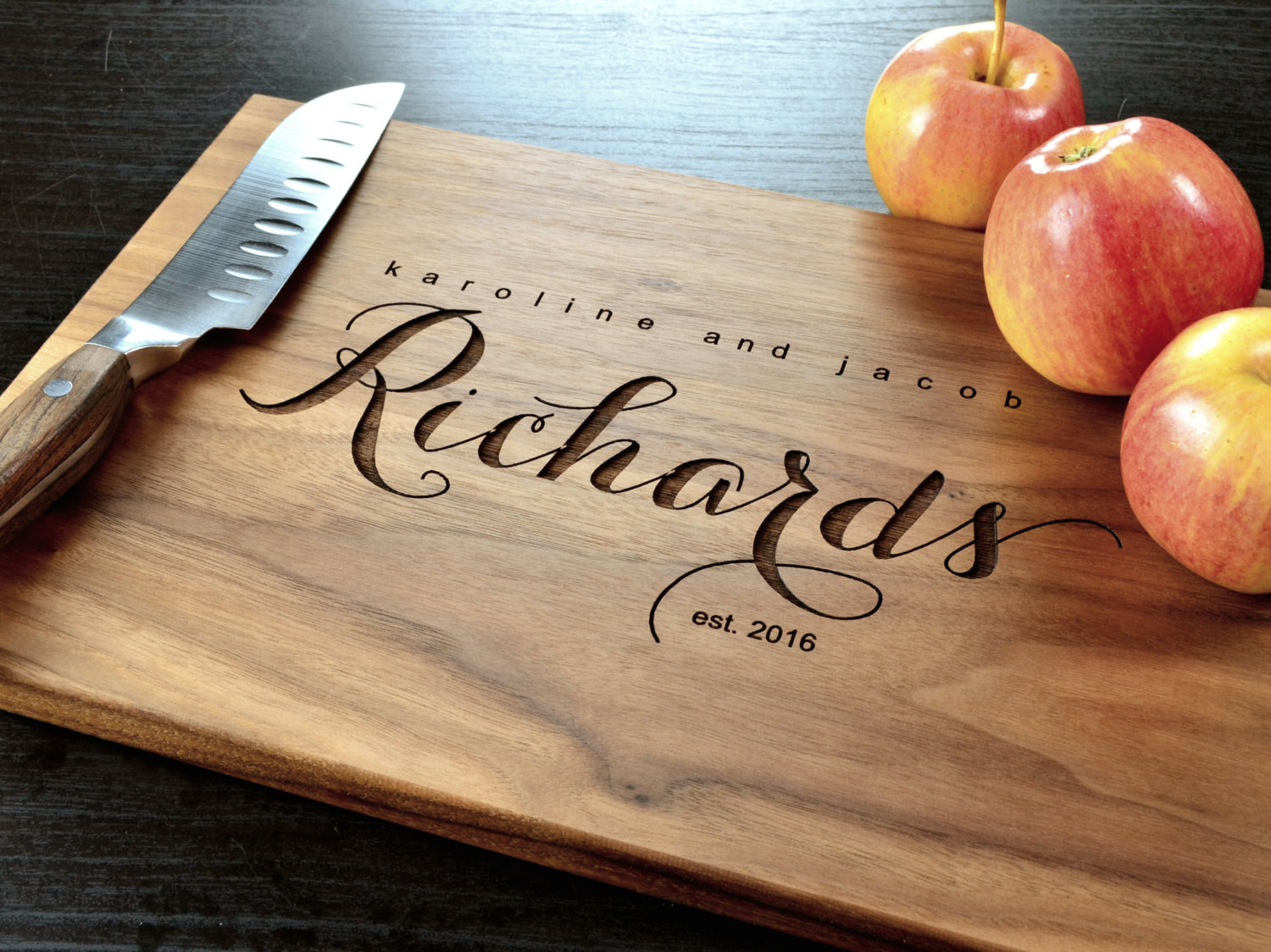 Best ideas about Wedding Gift Engraving Ideas . Save or Pin Personalized Cutting Board Engraved Custom Cutting Board Now.