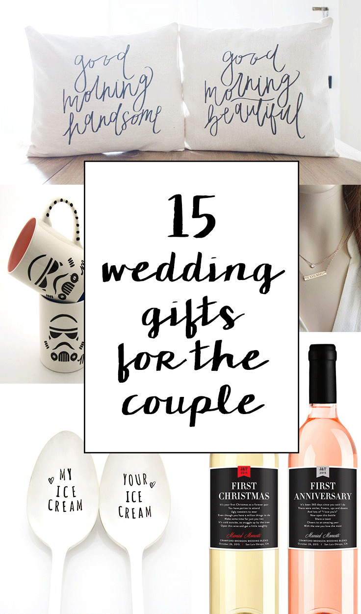 Best ideas about Wedding Gift Ideas For Bride . Save or Pin 15 Sentimental Wedding Gifts for the Couple Now.