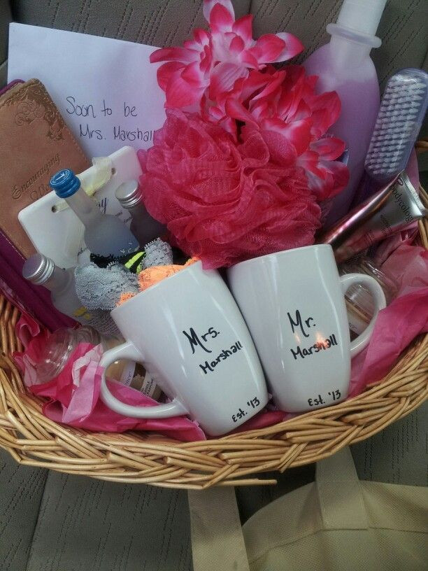Best ideas about Wedding Gift Ideas For Bride . Save or Pin Bridal shower t basket Gifts Pinterest Now.