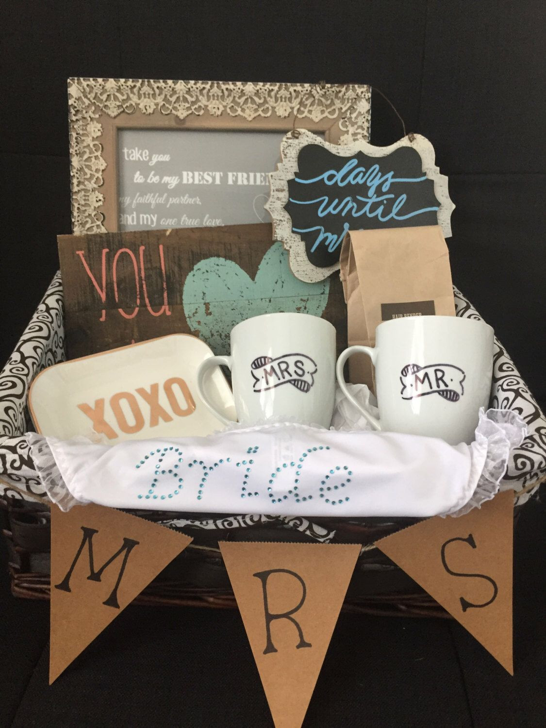 Best ideas about Wedding Gift Ideas For Bride . Save or Pin Bridal Gift Basket Bridal shower t basket ts for Now.