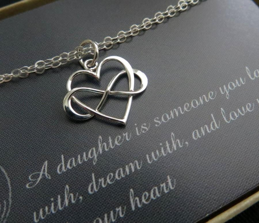 Best ideas about Wedding Gift Ideas For Daughter . Save or Pin Gift For Daughter From Mom Wedding Day Infinity Heart Now.
