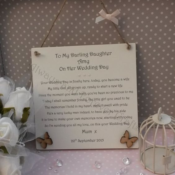 Best ideas about Wedding Gift Ideas For Daughter . Save or Pin Daughters Wedding day and Wedding day ts on Pinterest Now.