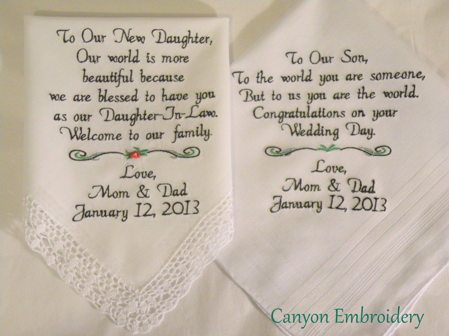 Best ideas about Wedding Gift Ideas For Daughter . Save or Pin New Daughter Son Wedding Gift From Mom and Dad to the Now.