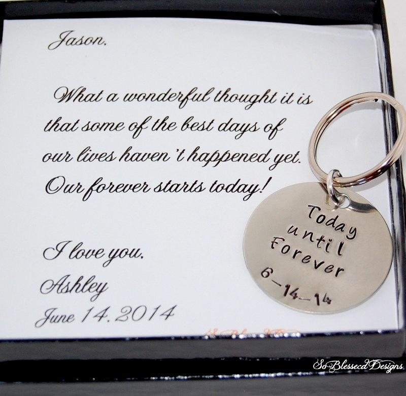 Best ideas about Wedding Gift Ideas For Groom From Bride . Save or Pin Groom Gift From Bride Key Chain Bride To GROOM Gift Now.