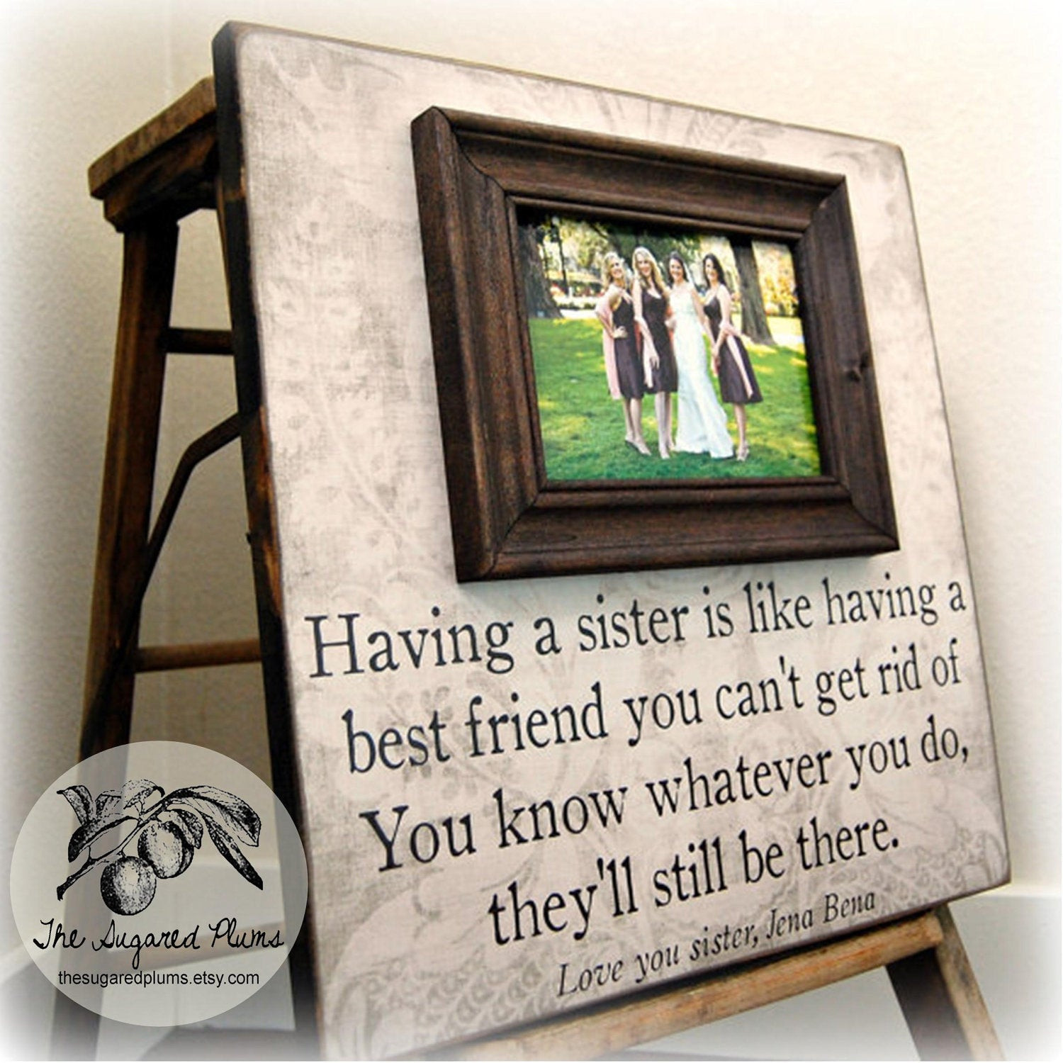 Best ideas about Wedding Gift Ideas For Sister . Save or Pin Bridesmaid Gift Bridal Party Gift Having a Sister 16x16 The Now.