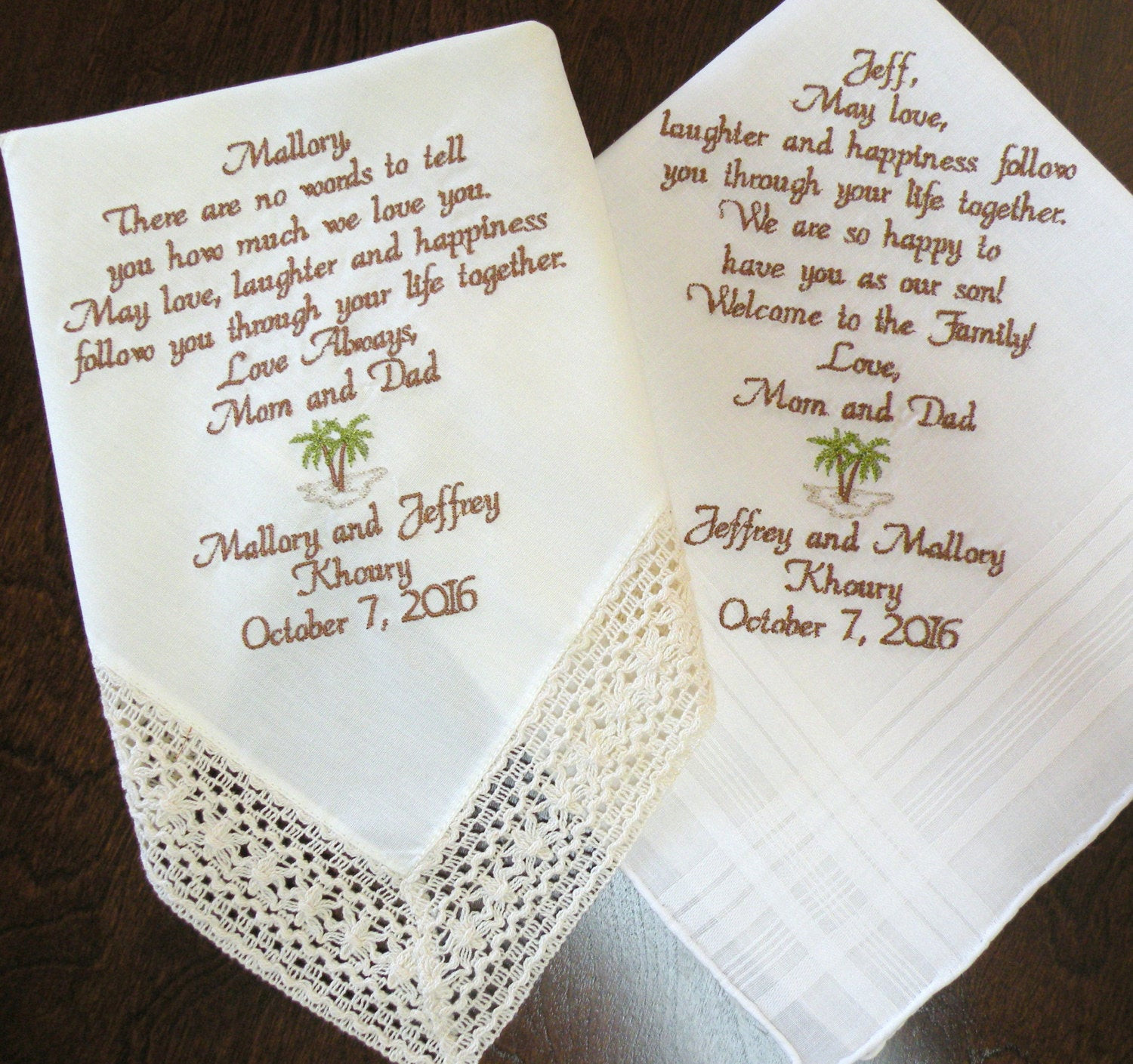 Best ideas about Wedding Gift Ideas For Son . Save or Pin Wedding Day Gifts Handkerchief for Son Daughter Wedding Now.