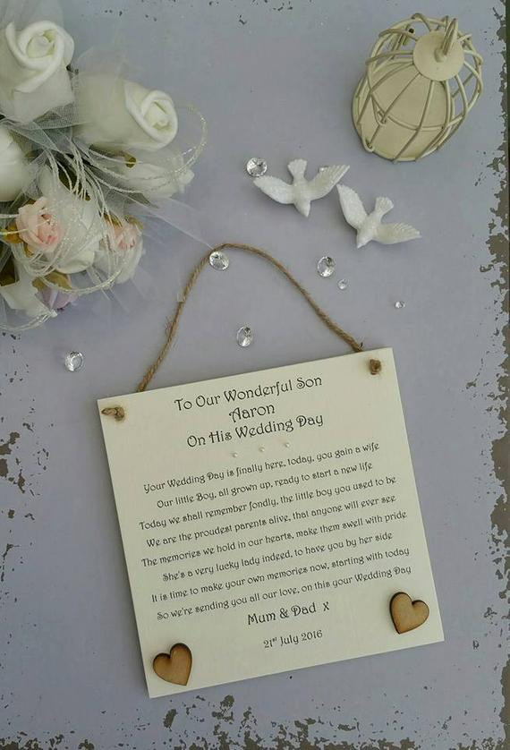 Best ideas about Wedding Gift Ideas For Son . Save or Pin Son Wedding Day Gift Groom Wedding Day Gift Groom Now.