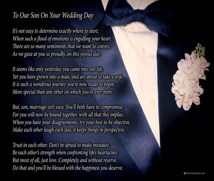 Best ideas about Wedding Gift Ideas For Son . Save or Pin To Our Son Your Wedding Day Poem Print 8x10 Now.