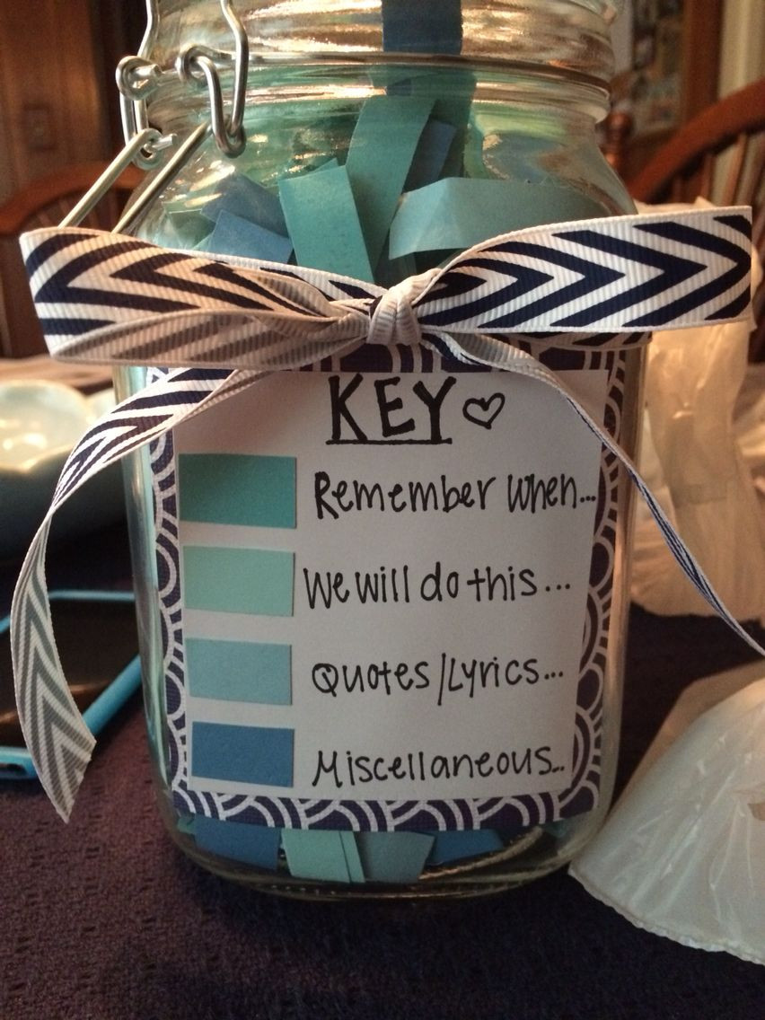 Best ideas about Wedding Gift Ideas For Young Couples . Save or Pin 365 Note Jar … Good Present for Boyfriend Now.