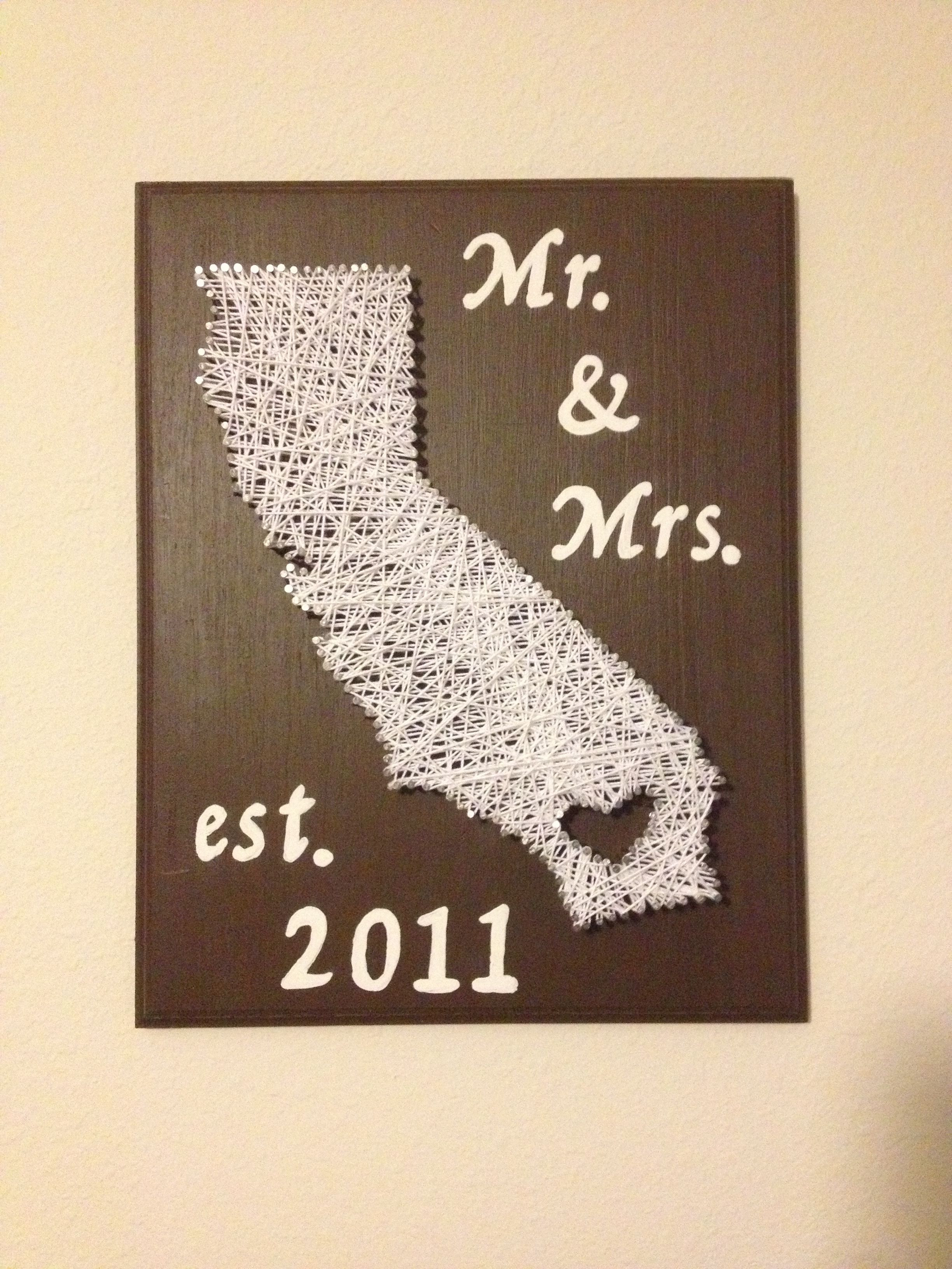 Best ideas about Wedding Gift Ideas Walmart . Save or Pin DIY 2year wedding anniversary t cotton string art Now.