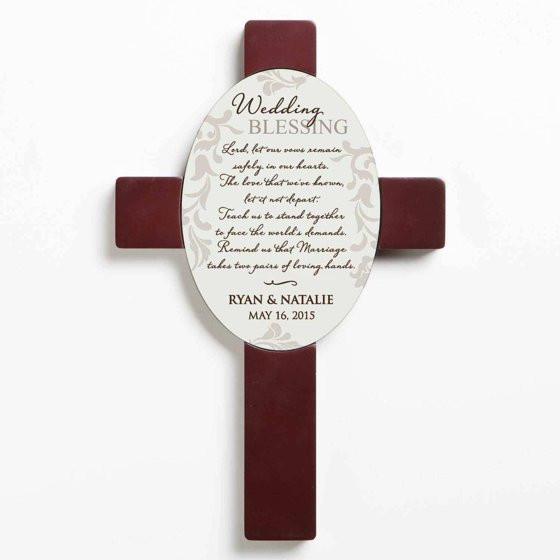 Best ideas about Wedding Gift Ideas Walmart . Save or Pin Personalized Wedding Gift Wedding Blessing Wall Cross Now.