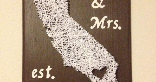 Best ideas about Wedding Gift Ideas Walmart . Save or Pin DIY 2year wedding anniversary t cotton string art Now.