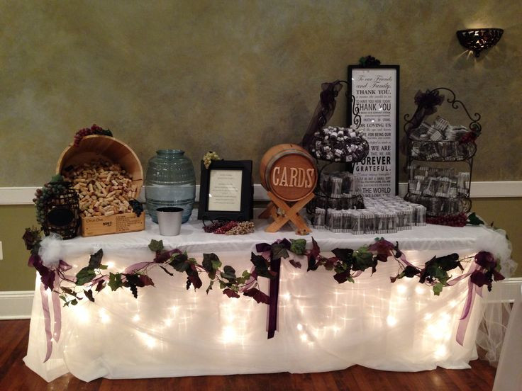 Best ideas about Wedding Gift Tables Ideas . Save or Pin Wine Theme Wedding Gift Table Wedding ideas Now.