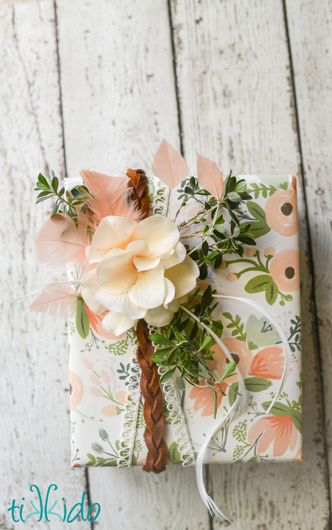 Best ideas about Wedding Gift Wrap Ideas . Save or Pin Boho Style Gift Wrapping Tutorial Now.