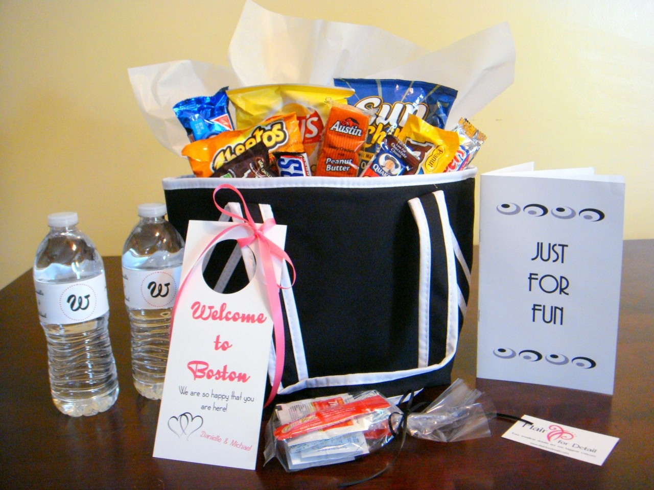 Best ideas about Wedding Guest Gift Bag Ideas . Save or Pin Detroit Michigan Wedding Planner Blog Hospitality Bags Now.