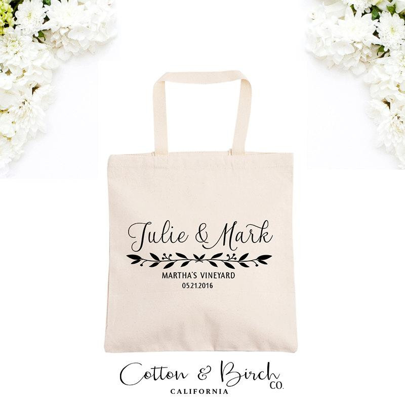 Best ideas about Wedding Guest Gift Bag Ideas . Save or Pin Personalized Wedding Tote Bag Wedding Guest Bag Now.