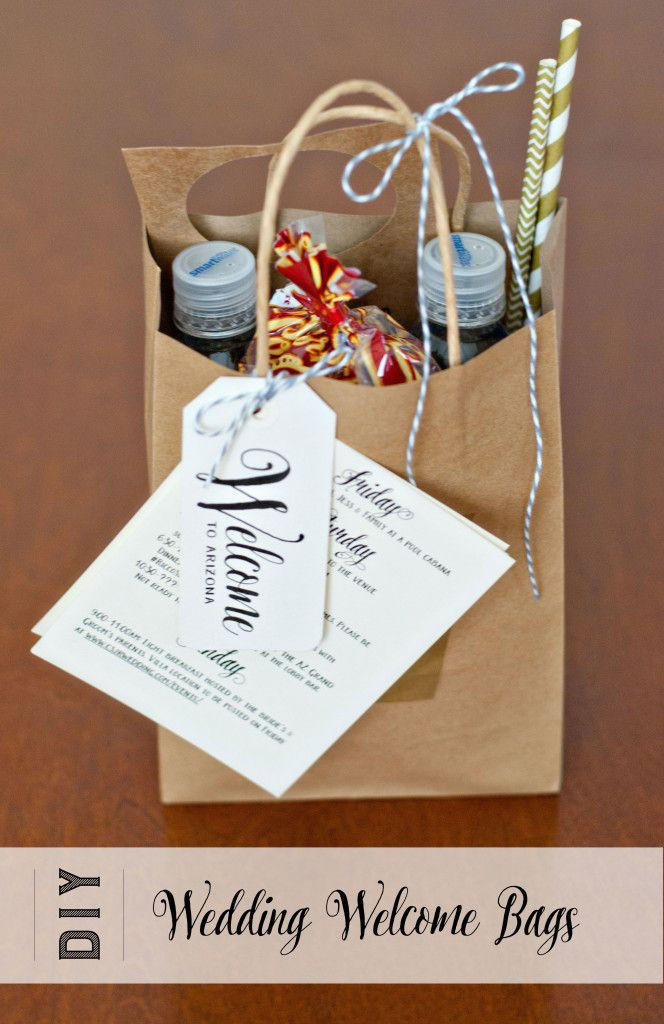 Best ideas about Wedding Guest Gift Bag Ideas . Save or Pin Wel e bags we made for our Phoenix AZ wedding in April Now.