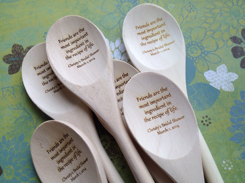 Best ideas about Wedding Guest Gift Ideas Cheap . Save or Pin Engraved Wooden Spoon Bridal Shower Guest Book by Now.