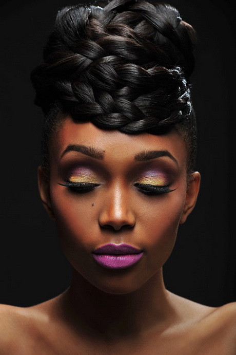 Best ideas about Wedding Hairstyles Braids African American . Save or Pin Bridal hairstyles black brides Now.