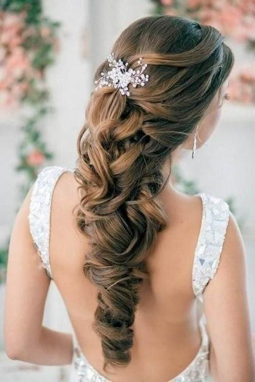 Best ideas about Wedding Hairstyles Down Curly . Save or Pin Wedding Hairstyles Down Curly for Bride Now.