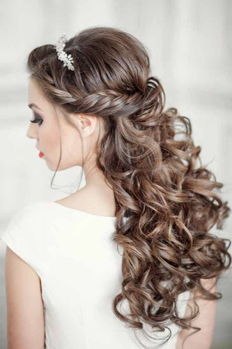 Best ideas about Wedding Hairstyles Down Curly . Save or Pin Elegant Wedding Hairstyles Half Up Half Down Now.