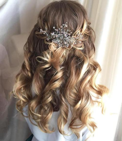 Best ideas about Wedding Hairstyles Down Curly . Save or Pin Half Up Half Down Wedding Hairstyles – 50 Stylish Ideas Now.