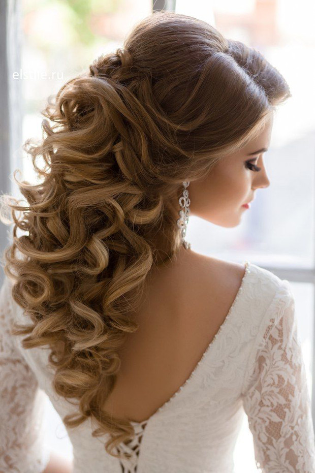 Best ideas about Wedding Hairstyles Down Curly . Save or Pin 10 Gorgeous Half Up Half Down Wedding Hairstyles Now.