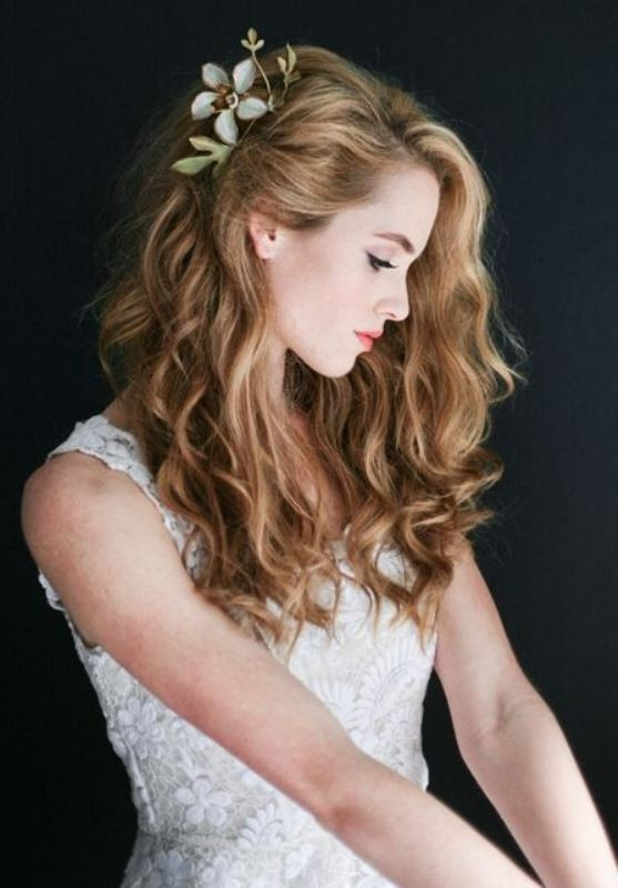 Best ideas about Wedding Hairstyles For Naturally Curly Hair . Save or Pin 45 Charming Bride s Wedding Hairstyles For Naturally Curly Now.
