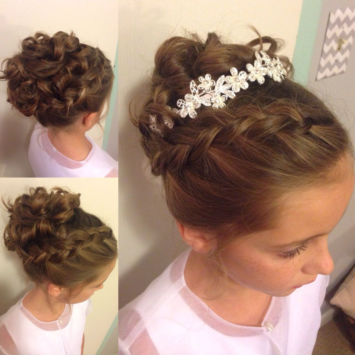 Best ideas about Wedding Hairstyles For Toddlers . Save or Pin Little girl updo Wedding hairstyle Instagram Now.