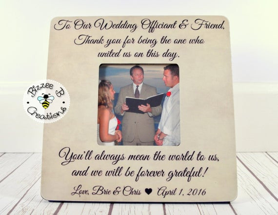 Best ideas about Wedding Officiant Gift Ideas . Save or Pin Wedding ficiant Gift Friend & Wedding by BizzeeBCreations Now.