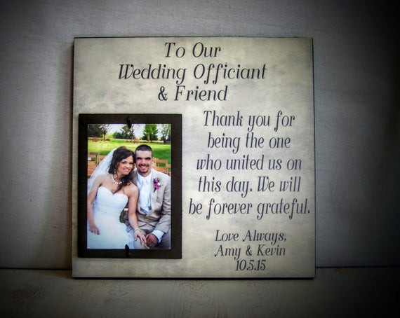 Best ideas about Wedding Officiant Gift Ideas . Save or Pin Wedding ficiant Gift Perfect For The Friend & Wedding Now.