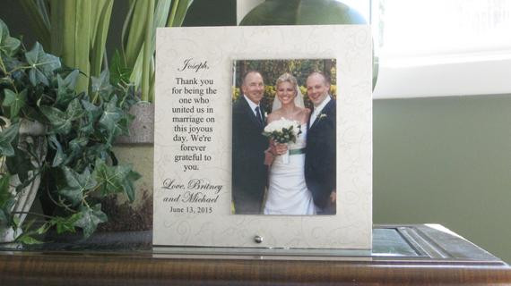 Best ideas about Wedding Officiant Gift Ideas . Save or Pin WEDDING OFFICIANT GIFT wedding officiant frame wedding Now.