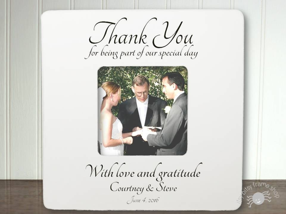 Best ideas about Wedding Officiant Gift Ideas . Save or Pin Personalized Wedding ficiant Frame ficiant Gift Thank You Now.