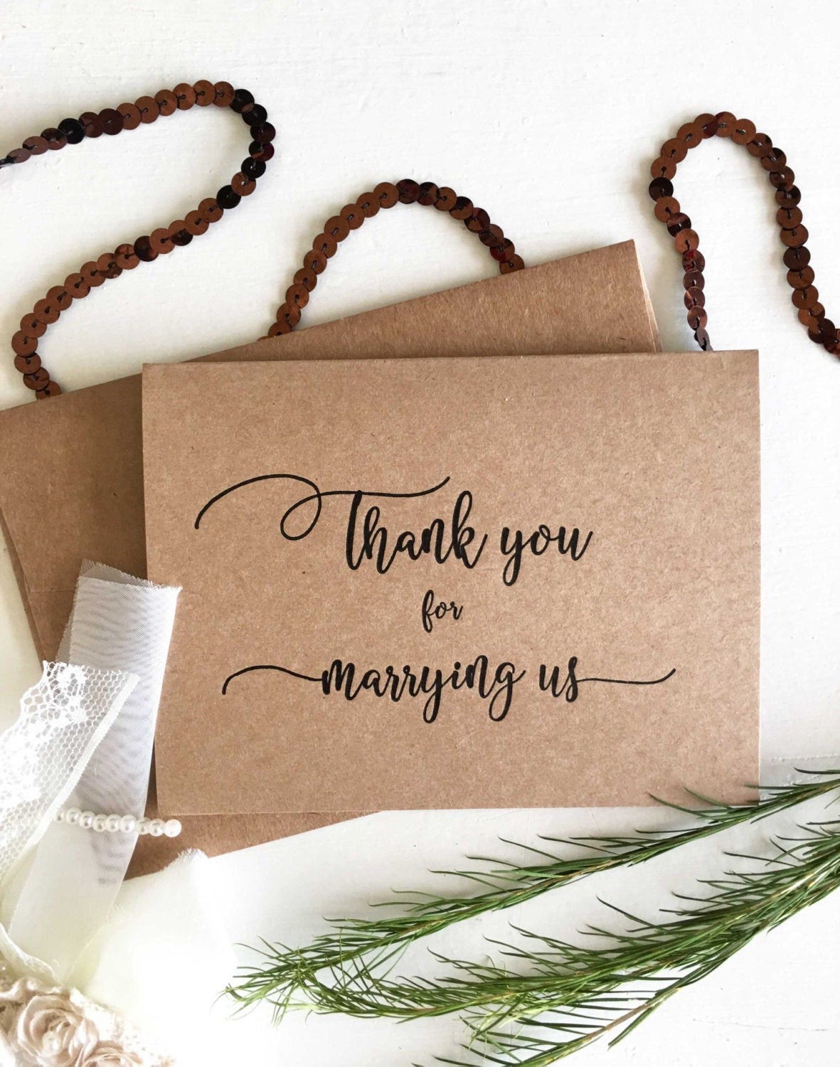 Best ideas about Wedding Officiant Gift Ideas . Save or Pin Wedding ficiant Gift ficiant Card Thank You For Now.