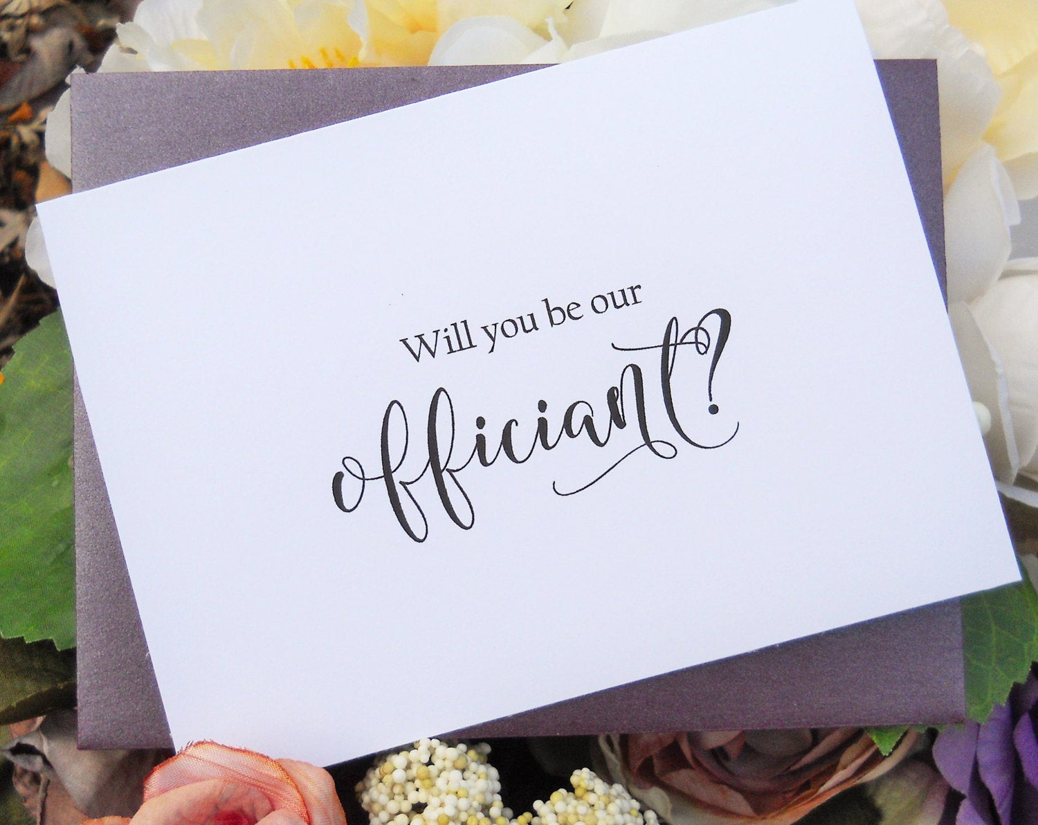 Best ideas about Wedding Officiant Gift Ideas . Save or Pin WILL You Be Our OFFICIANT CARD ficiant Card Will You Be My Now.