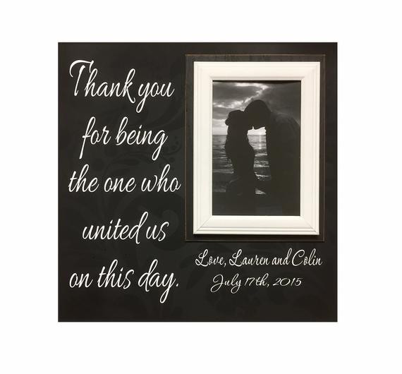 Best ideas about Wedding Officiant Gift Ideas . Save or Pin Wedding ficiant Gift Custom Wedding Frame Thank You Gift Now.