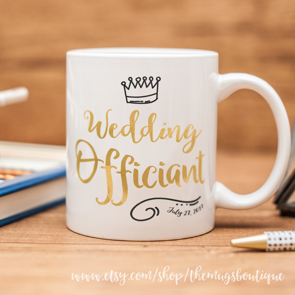Best ideas about Wedding Officiant Gift Ideas . Save or Pin Wedding ficiant mug personalized Wedding ficiant t Now.