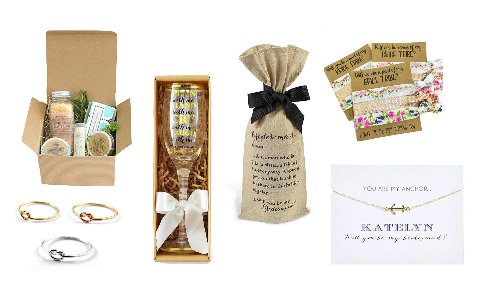 Best ideas about Wedding Party Gift Ideas . Save or Pin Top 20 Best Bridal Party Proposal Gifts & Cards Now.