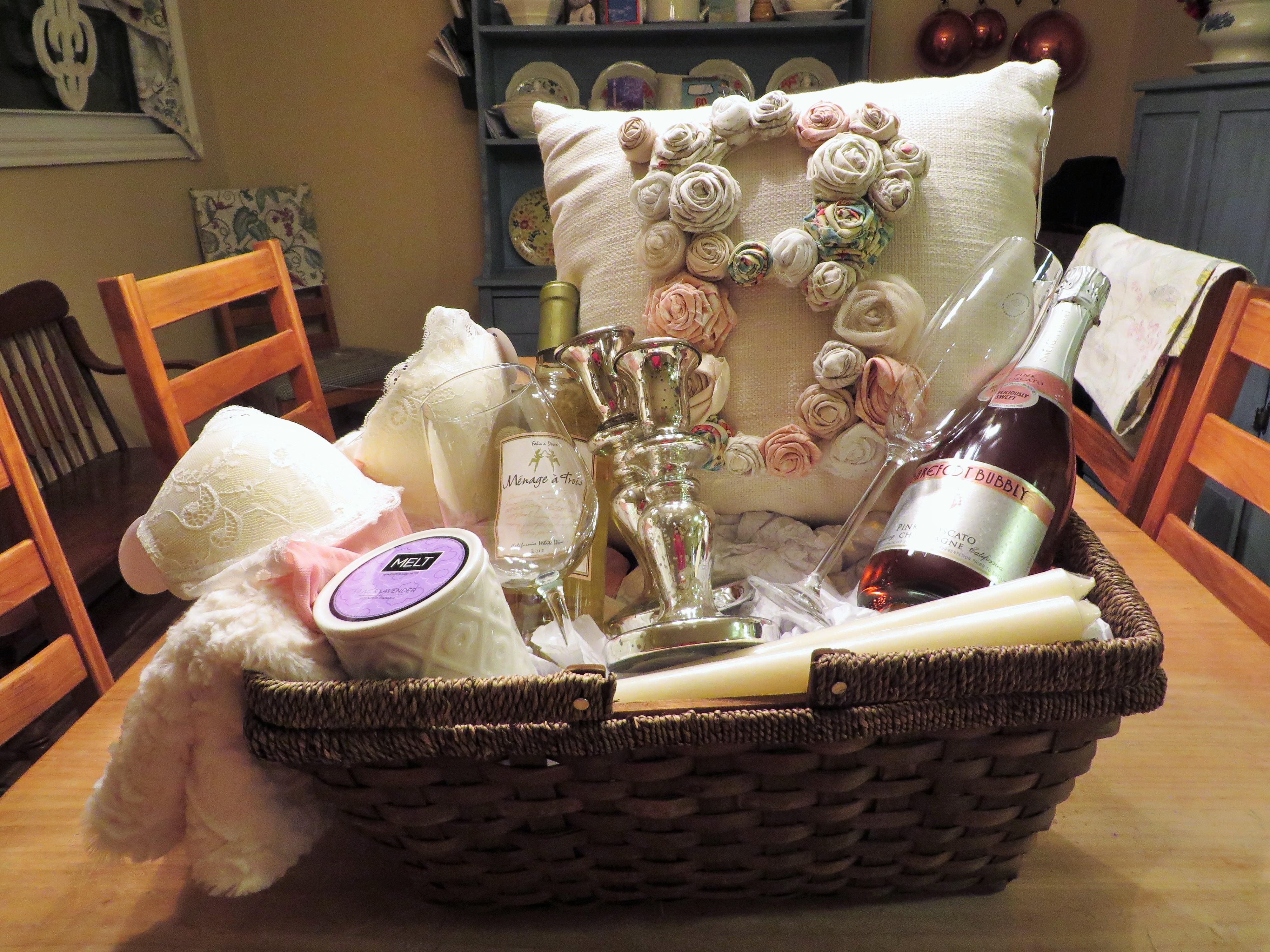 Best ideas about Wedding Shower Gift Basket Ideas . Save or Pin Bridal Shower Gift Basket Now.