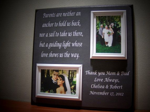 Best ideas about Wedding Thank You Gift Ideas For Parents . Save or Pin Parents Wedding Gift Father of Mother of by Now.