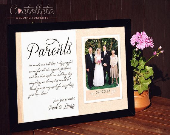 Best ideas about Wedding Thank You Gift Ideas For Parents . Save or Pin 25 best ideas about Parent wedding ts on Pinterest Now.