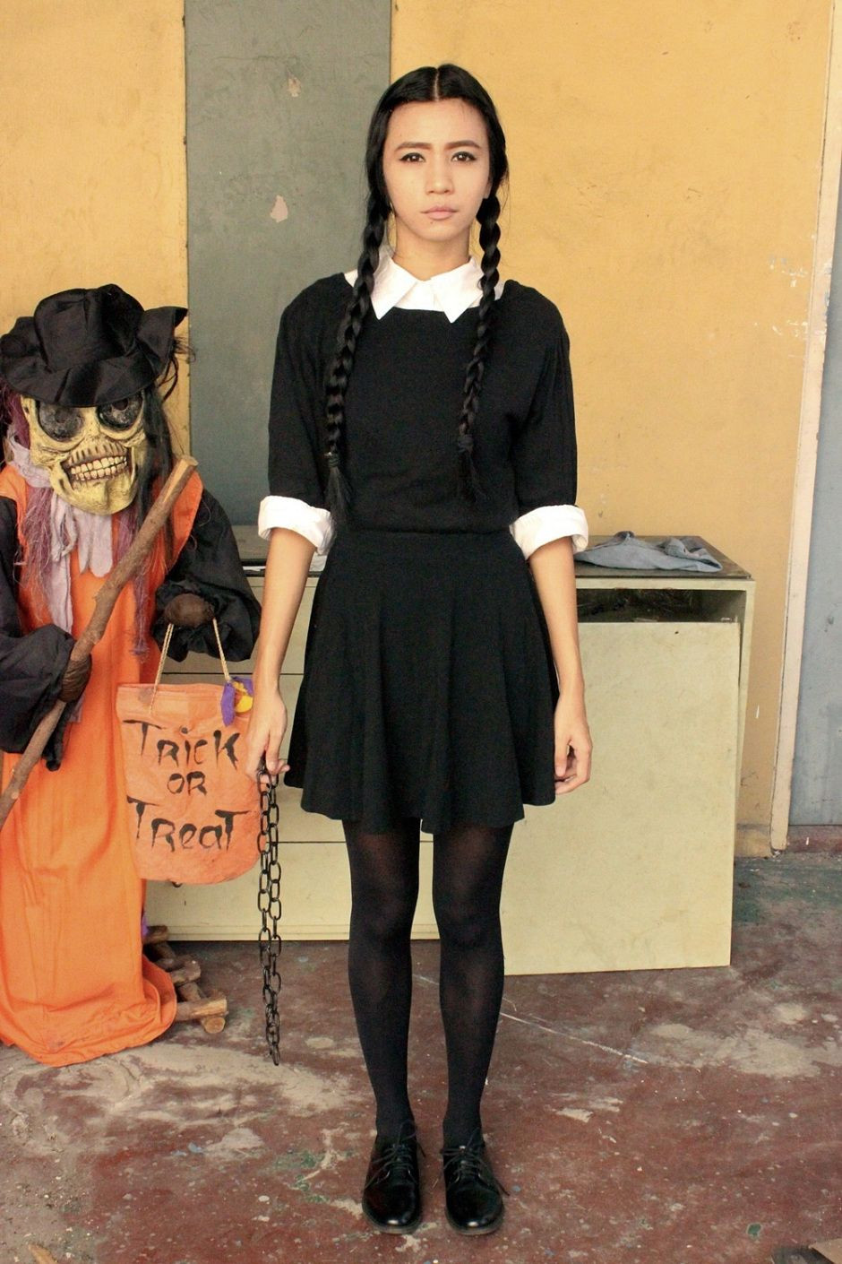 Best ideas about Wednesday Addams DIY Costume . Save or Pin DIY WEDNESDAY ADDAMS HALLOWEEN COSTUME Now.