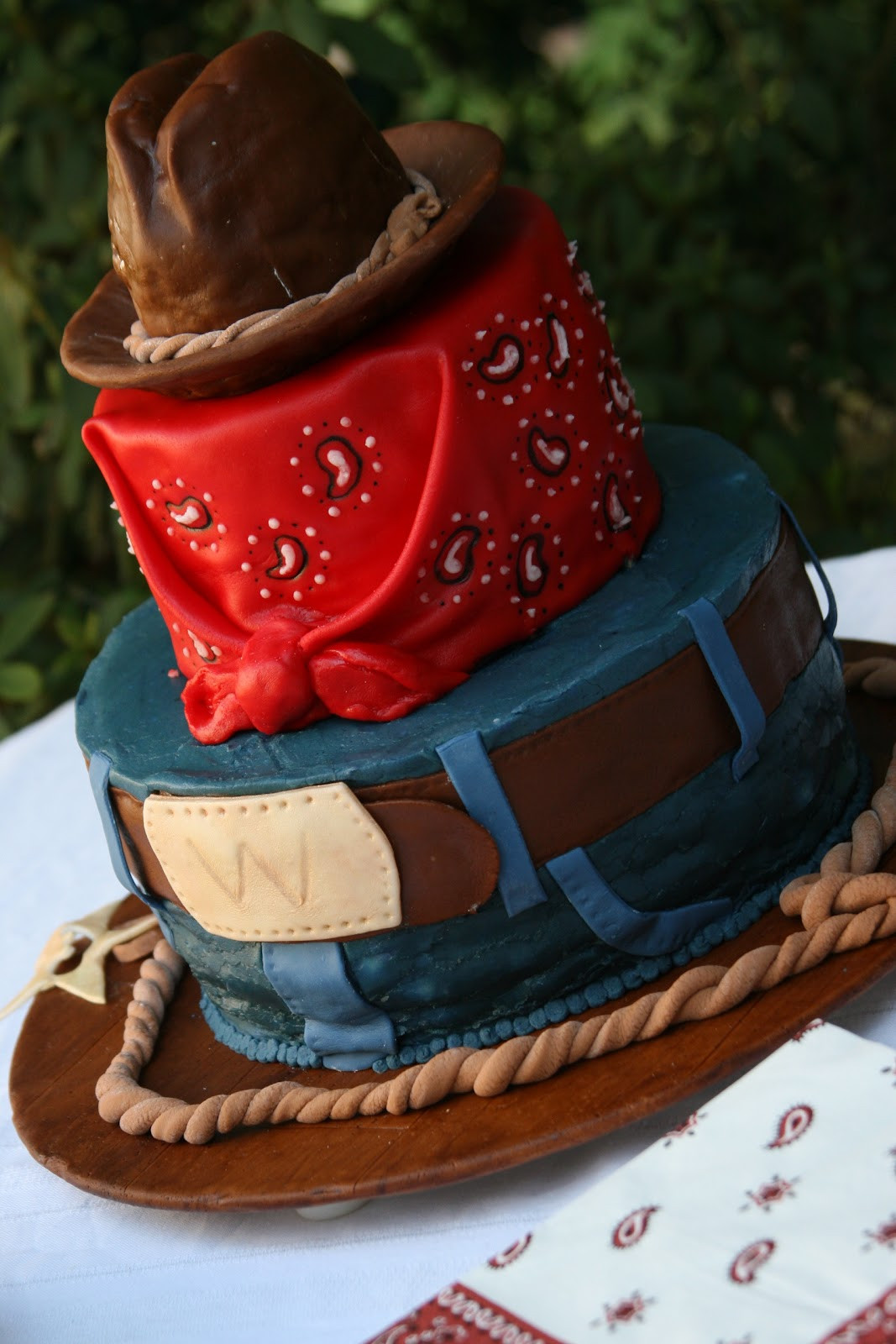 Best ideas about Western Birthday Cake . Save or Pin the cake box girls Cowboy Birthday Cake Now.
