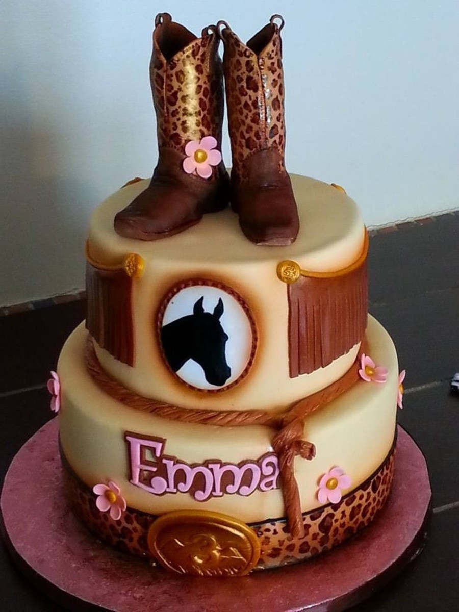 Best ideas about Western Birthday Cake . Save or Pin Cowgirl western Theme Cake CakeCentral Now.