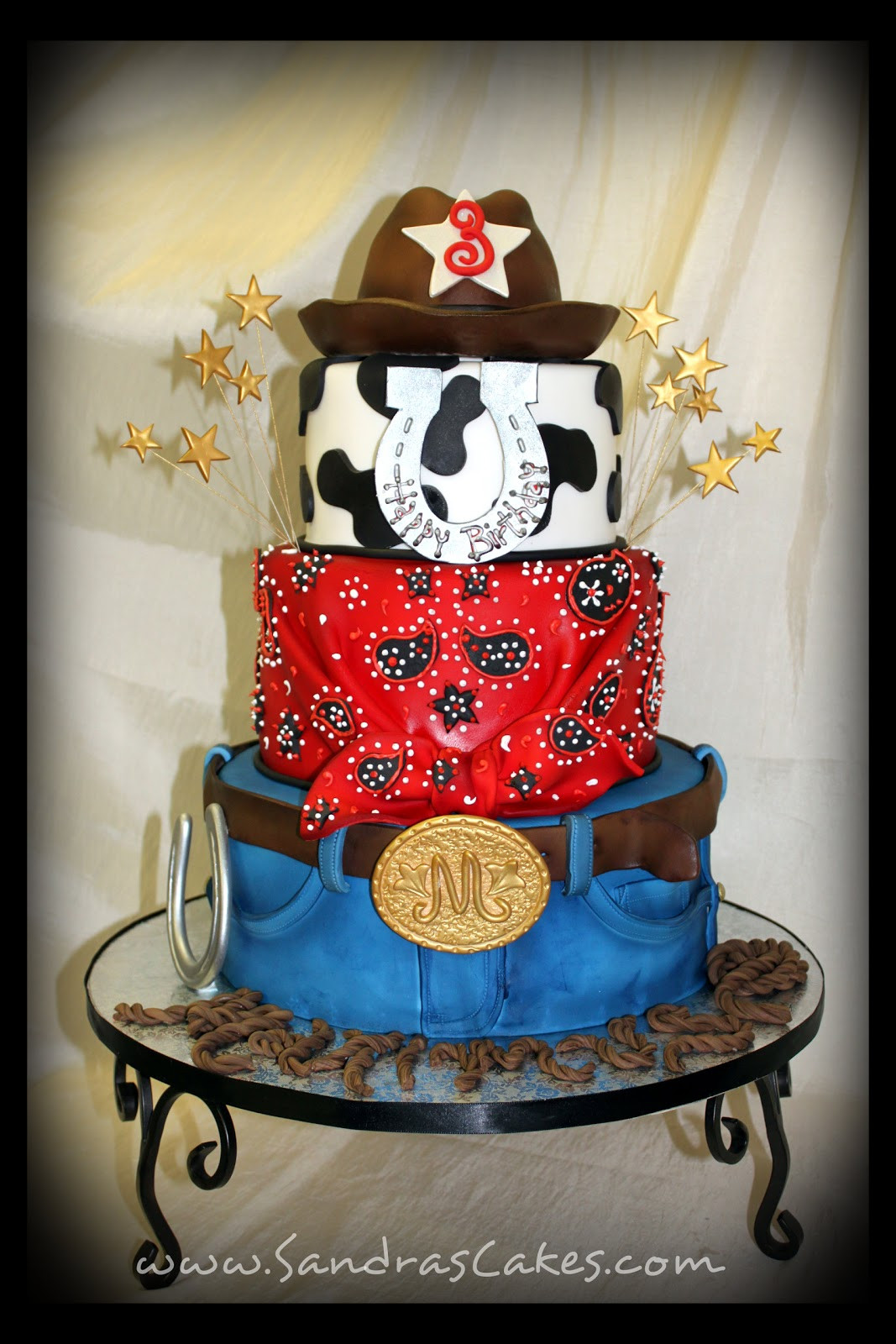 Best ideas about Western Birthday Cake . Save or Pin Maximu s Cowboy Theme Cake Now.