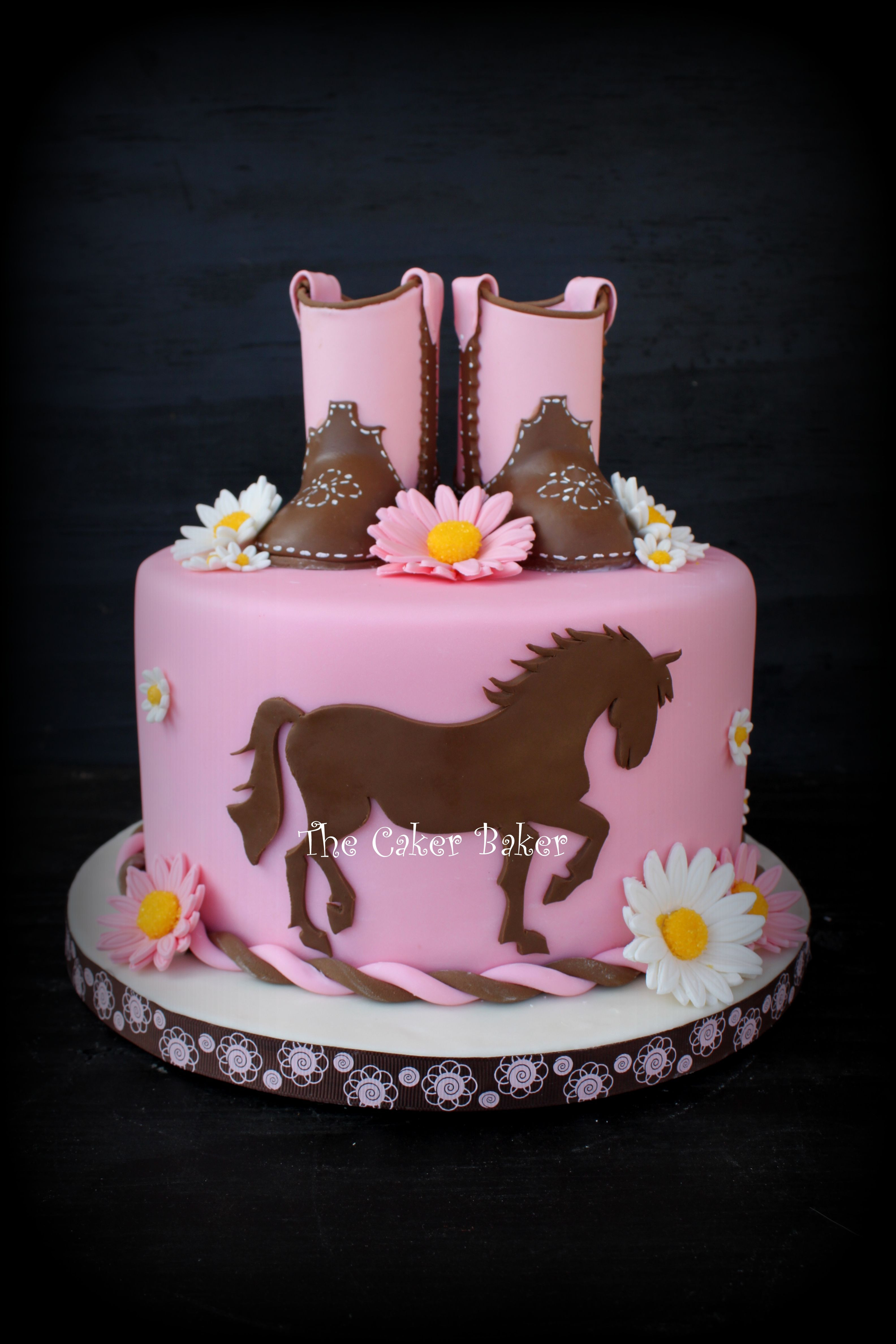Best ideas about Western Birthday Cake . Save or Pin Cowgirl Cake Gumpaste boots and cut out of a horse Now.